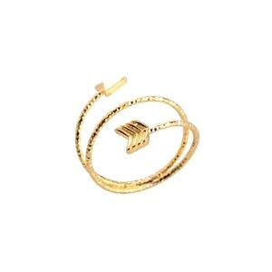 Jewelry - 🔥2 for $15🔥 Double Wrap Arrow Gold Ring